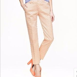 J.Crew collection Cafe capri Glided Dot Brocade 4